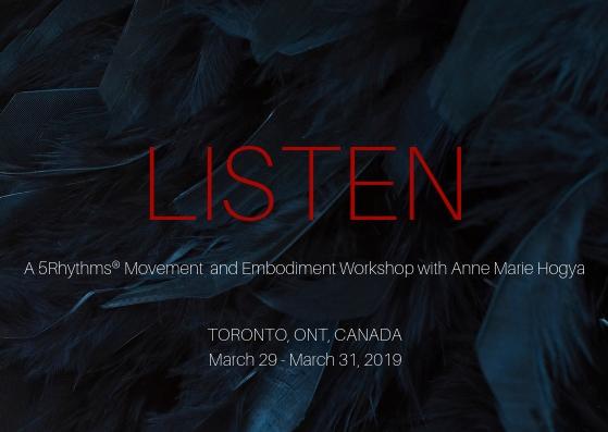 LISTEN, Toronto (March 29-31, 2019) FRONT (1)